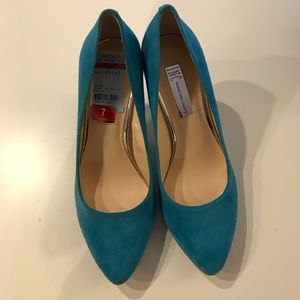 Inc International Concepts Blue Heels Size 7